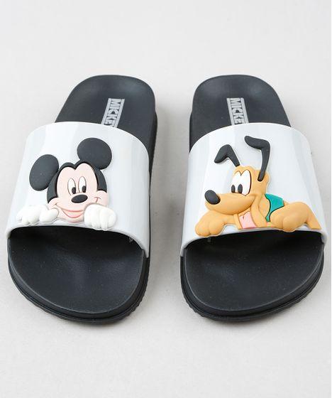 2032a4d23 Chinelo Slide Infantil Grendene Mickey e Pluto Preto - cea