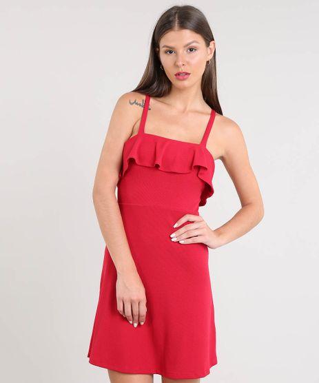 Vestido-Feminino-Curto-Canelado-com-Babado-Alca-Fina-Vermelho-9468905-Vermelho_1