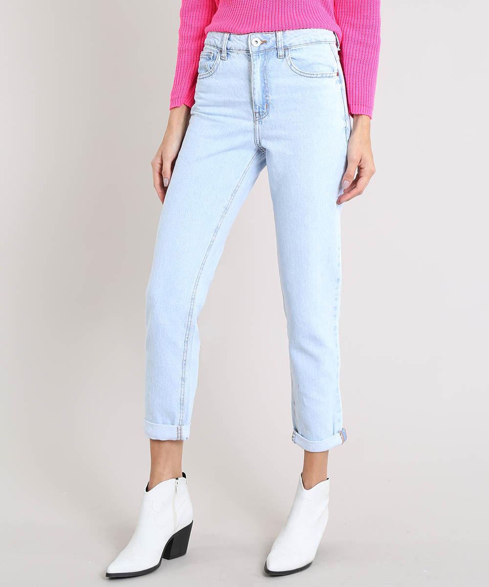 30961dd20 ... Calca-Jeans-Feminina-Mom-Pants-Azul-Claro-9204363-