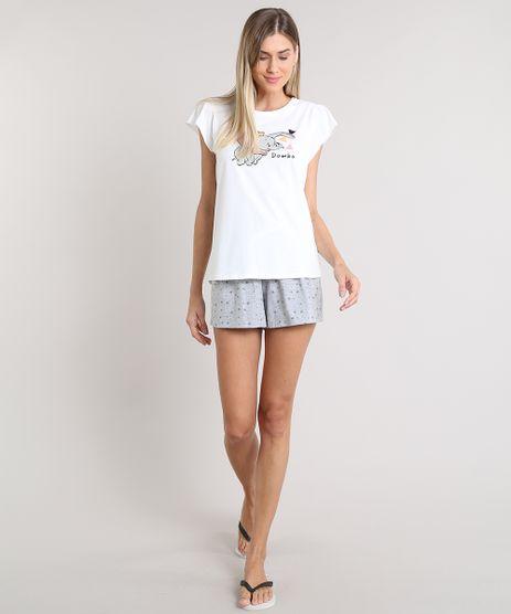 Pijama-Feminino-Dumbo-Manga-Curta-Off-White-9490013-Off_White_1