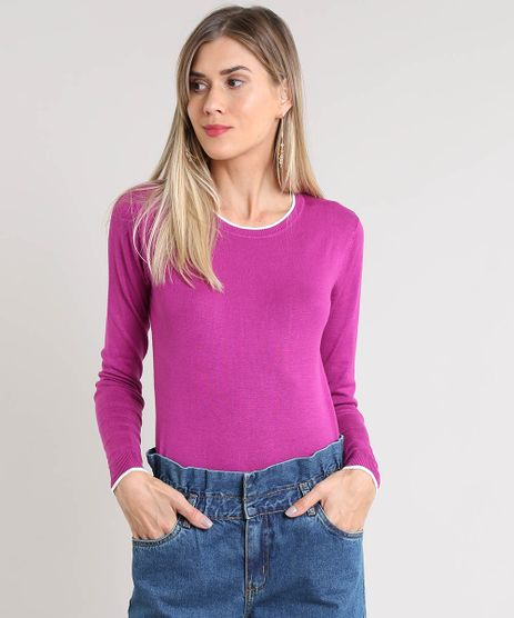 Sueter-Feminino-Basico-Bicolor-em-Trico-Roxo-9325451-Roxo_1
