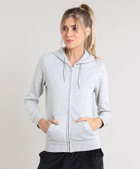Blusao-Feminino-Esportivo-Ace-em-Moletom-com-Capuz-e-Bolsos-Cinza-Mescla-9347915-Cinza_Mescla_1