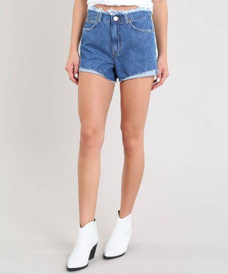 Short-Jeans-Feminino-Vintage-Cos-e-Barra-Desfiados-Azul-Medio-9534869-Azul_Medio_1