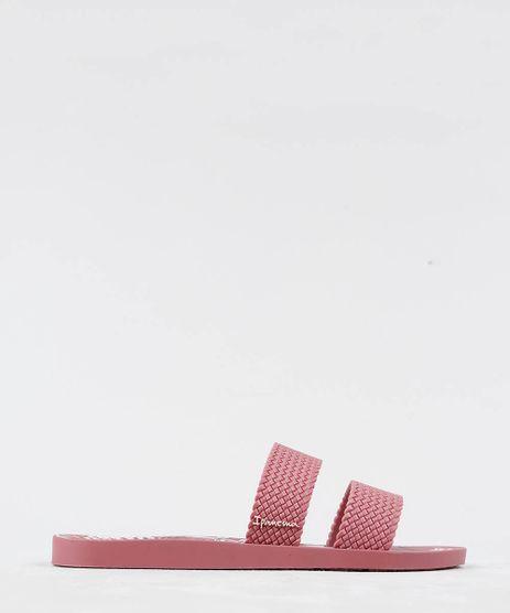 Chinelo-Slide-Feminino-Ipanema-com-Tiras-Texturizadas-Estampado-de-Folhagem-Vinho-9210416-Vinho_1