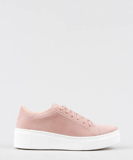 Tenis-Feminino-Flatform-em-Suede-Rose-9530819-Rose_1