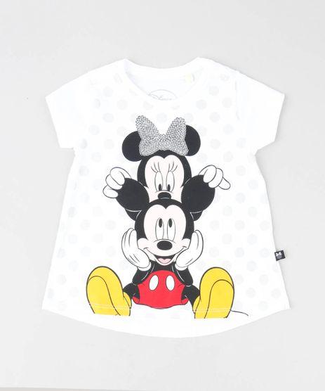 Blusa-Infantil-Minnie-e-Mickey-com-Paete-Manga-Curta-Decote-Redondo-Off-White-9422032-Off_White_1