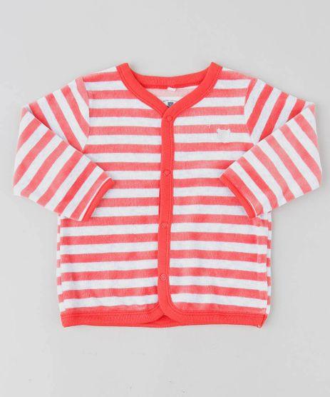 Cardigan-Infantil-Listrado-em-Plush-Cinza-Mescla-Claro-9195556-Cinza_Mescla_Claro_1