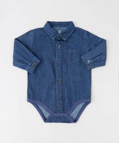 Body-Camisa-Jeans-Infantil-com-Bolso-Manga-Longa-Azul-Escuro-9443401-Azul_Escuro_1