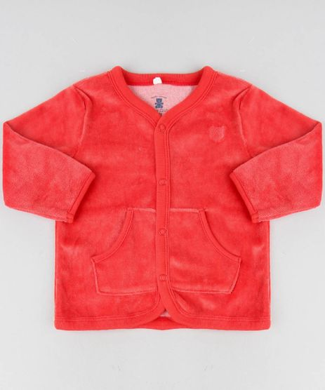 Cardigan-Infantil-com-Bolsos-em-Plush-Vermelho-9195556-Vermelho_1