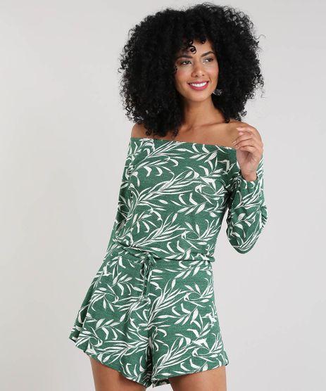 Macaquinho-Feminino-Estampado-de-Folhagem-Manga-Longa-Verde-9457953-Verde_1