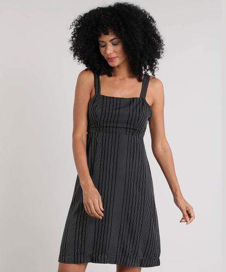Vestido-Feminino-Curto-Listrado-Preto-9504071-Preto_1