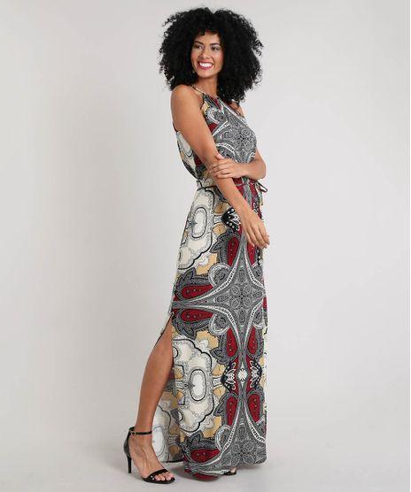 Vestido-Feminino-Longo-Estampado-Arabesco-com-Fenda-Preto-9465384-Preto_1