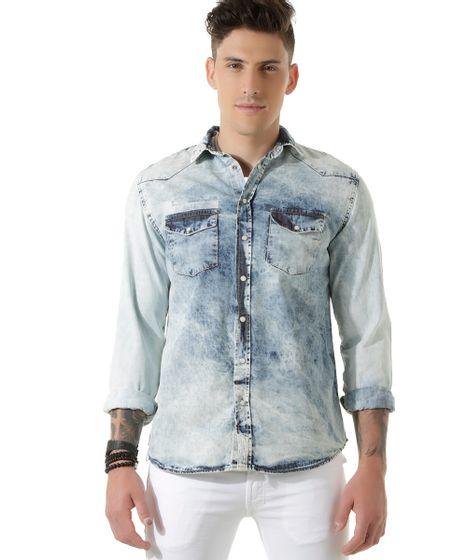 c1852e73ca23c1 Camisa-Jeans-Azul-Claro-8449453-Azul_Claro_1 ...