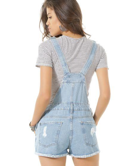 Jardineira jeans azul claro c a for Jardineira jeans c a