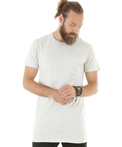 Camiseta Básica Longa Off White - cea cc67f25fe7a51