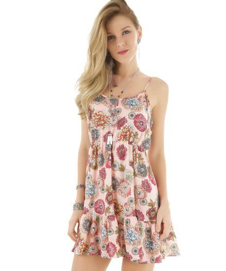 6eff400f32 Vestido-Estampado-Floral-Rosa-Claro-8366444-Rosa Claro 1