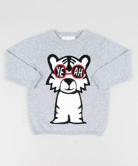 Sueter-Infantil-Tigre-em-Trico-Cinza-Mescla-9358479-Cinza_Mescla_1