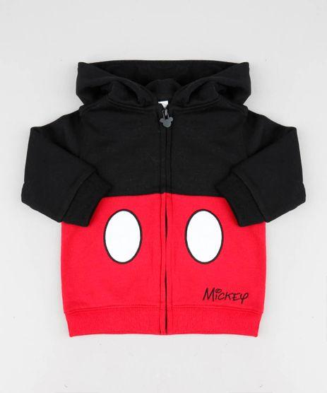 29234f4ba61 Blusao-Infantil-Mickey-com-Capuz-em-Moletom-Preto-