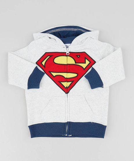 Blusao-Infantil-Super-Homem-com-Capuz-em-Moletom-Cinza-Mescla-Claro-9336164-Cinza_Mescla_Claro_1