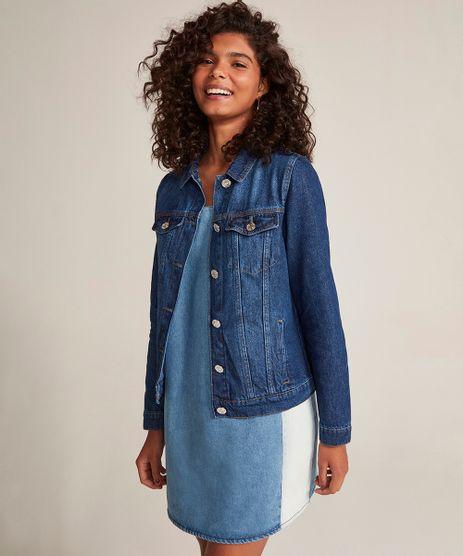 Jaqueta-Jeans-Feminina-com-Bolsos-Azul-Escuro-9463443-Azul_Escuro_1