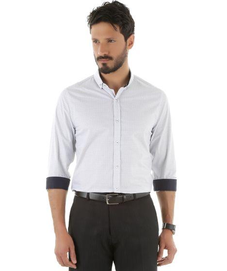 cd596ee99 Camisa-Social-Slim-Estampada-Branca-8452382-Branco 1 ...