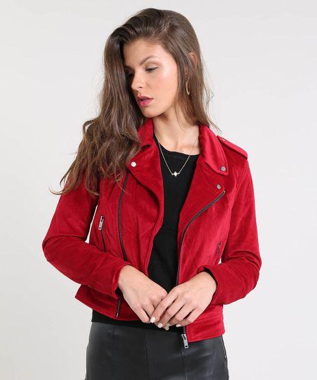 Jaqueta-Feminina-Biker-em-Veludo-Vermelha-9366404-Vermelho_1