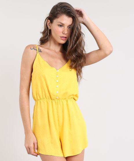 Macaquinho-Feminino-Maquinetado-com-Botoes-Alca-Fina-Amarelo-9502450-Amarelo_1