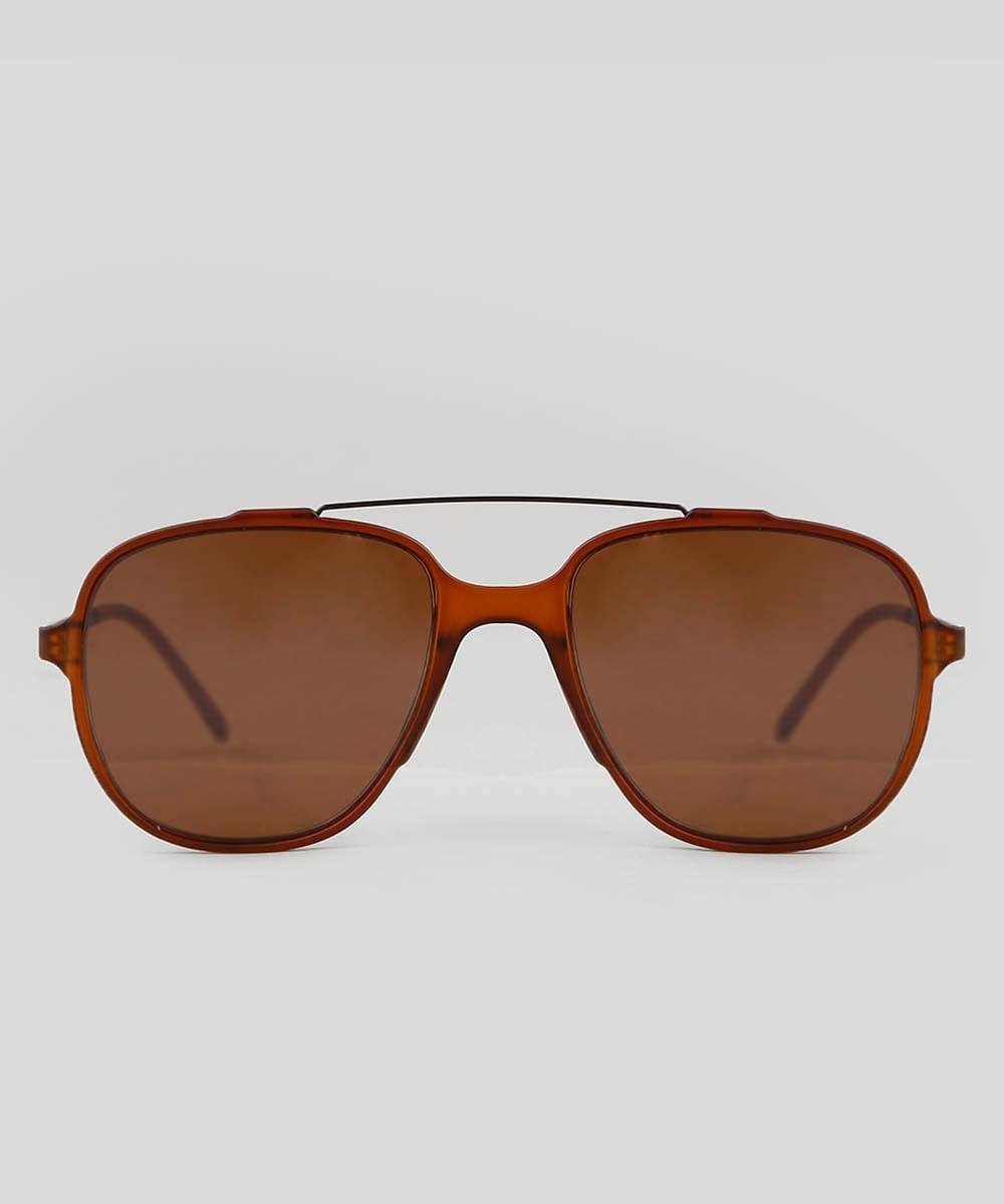 a7f711ce6 Óculos de Sol Aviador Unissex Oneself Marrom - ceacollections