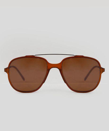 Oculos-de-Sol-Aviador-Unissex-Oneself-Marrom-9553918-Marrom_1