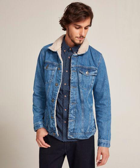 Jaqueta-Jeans-Masculina-Trucker-com-Pelo-Azul-Escuro-9449459-Azul_Escuro_1