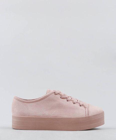 Tenis-Feminino-Moleca-Flat-Form-em-Suede-Rose-9272376-Rose_1