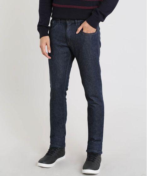 8fc38b1756 Calça Jeans Masculina Slim com Bolsos Azul Escuro - cea