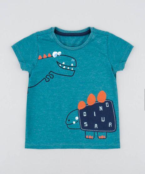 Camiseta-Infantil-com-Estampa-de-Dinossauro-Manga-Curta-Gola-Careca-Verde-9483144-Verde_1
