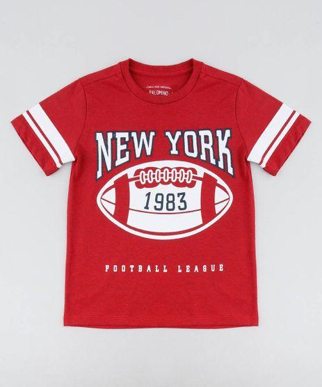 Camiseta-Infantil-com-Estampa-e-Bordado--New-York--Manga-Curta-Gola-Careca-Vermelha-9439184-Vermelho_1