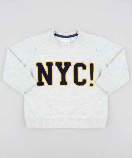 Blusao-Infantil-em-Moletom-com-Bordado--NY--Cinza-Mescla-Claro-9370819-Cinza_Mescla_Claro_1