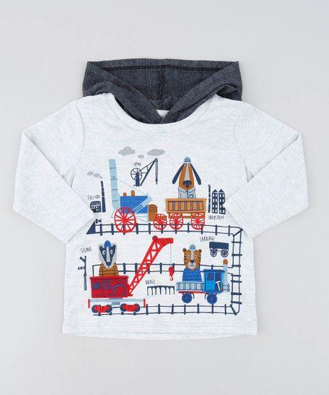 Camiseta-Infantil-com-Estampa-Interativa-Manga-Longa-e-Capuz-Cinza-Mescla-Claro-9428865-Cinza_Mescla_Claro_1