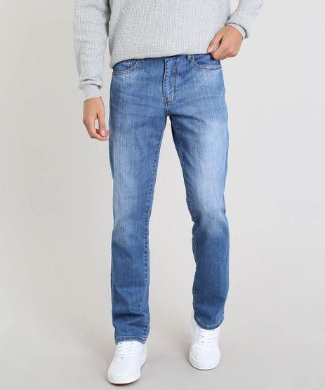 Calca-Jeans-Masculina-Reta-com-Bolsos-Azul-Medio-9450247-Azul_Medio_1