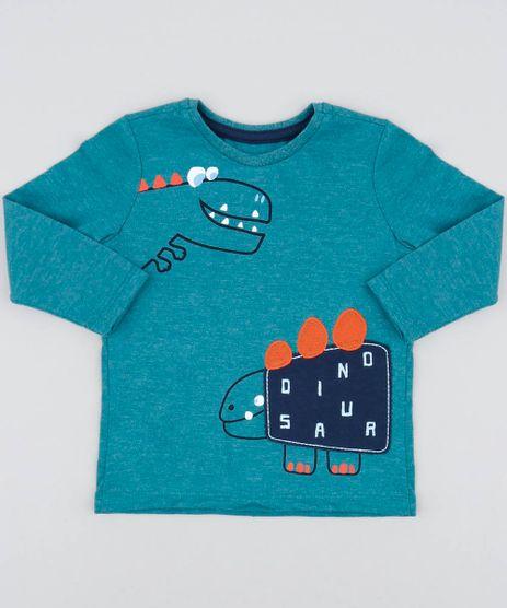 Camiseta-Infantil-com-Estampa-de-Dinossauro-Manga-Longa-Gola-Careca-Verde-9483145-Verde_1
