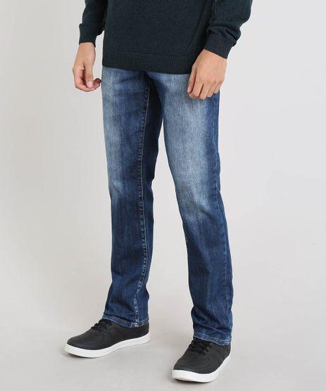 Calca-Jeans-Masculina-Reta-com-Bolsos-Azul-Medio-9450246-Azul_Medio_1