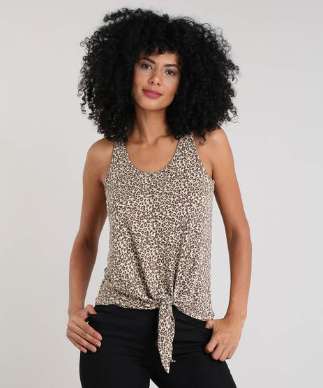 Regata-Feminina-Estampada-Animal-Print-com-No-Bege-9459976-Bege_1