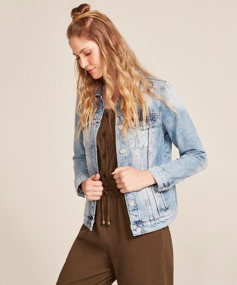 Jaqueta-Jeans-Feminina-com-Bolsos-Azul-Medio-9463442-Azul_Medio_1