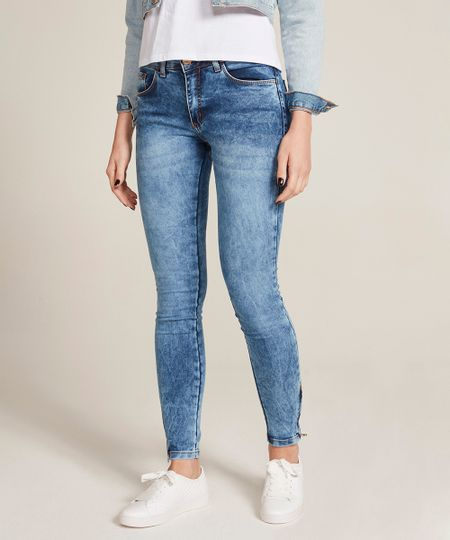 0a33f3aeb9 Calça Jeans Feminina Super Skinny Azul Médio - cea