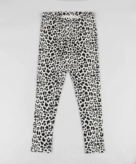 fc938d884 Calca-Legging-Infantil-Estampada-Animal-Print-Bege-Claro-