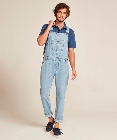 Macacao-Jeans-Masculino-Slim-com-Bolsos-Azul-Medio-9450248-Azul_Medio_1