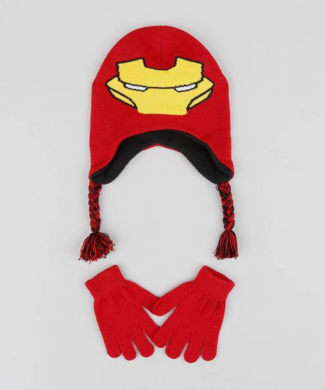 Kit-de-Gorro-Infantil-Homem-de-Ferro---Luvas-em-Trico-Vermelho-9361017-Vermelho_1