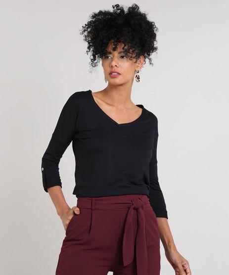 26b29bc4d Encontre Blusa feminina em malha de viscose com | Multiplace