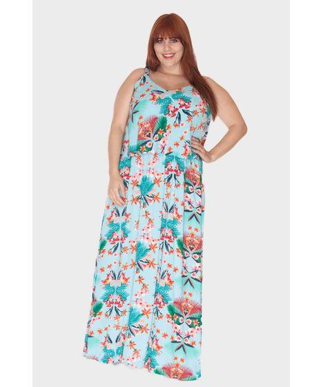 a7d6c7dd8 Vestido Longo Flores Plus Size - cea