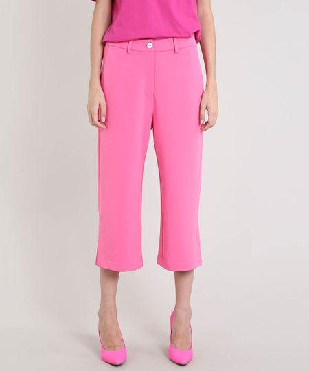 1766fb2d2 Menor preço em Calça Pantacourt Feminina Mindset Alfaiatada Pink