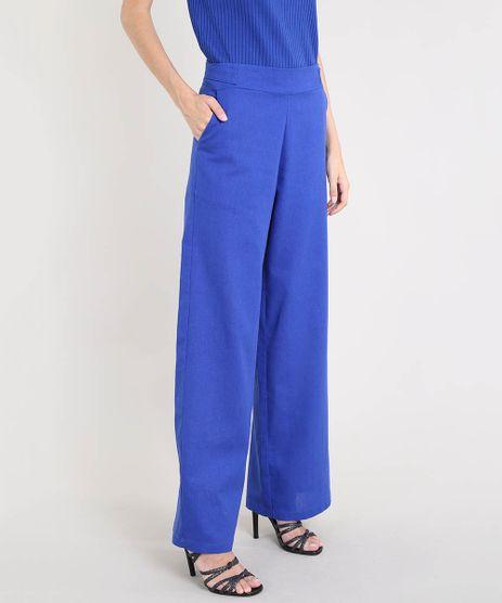 Calca-Pantalona-Feminina-Mindset-com-Linho-e-Martingale-Azul-Royal-9566119-Azul_Royal_1