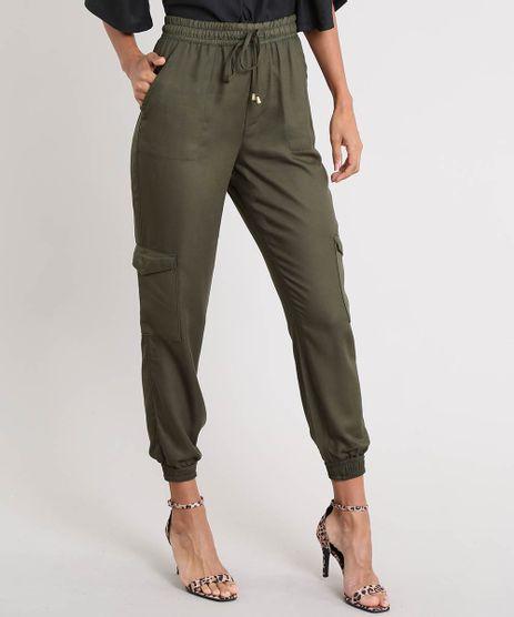 Calca-Feminina-Jogger-Cargo-Verde-Militar-9532125-Verde_Militar_1